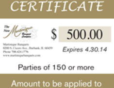 Quinceañera Certificate