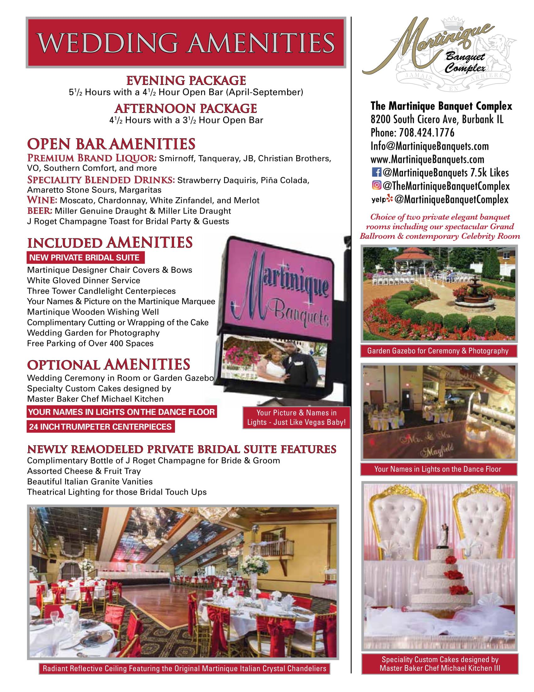 wedding amenities packages